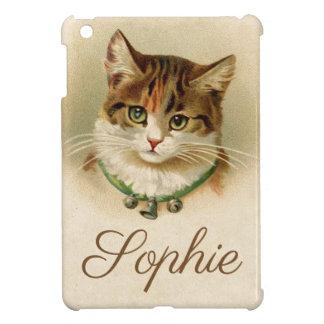 Vintage/Victorian Cat Personnalised iPad Mini Cover