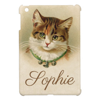 Vintage/Victorian Cat Personnalised iPad Mini Covers