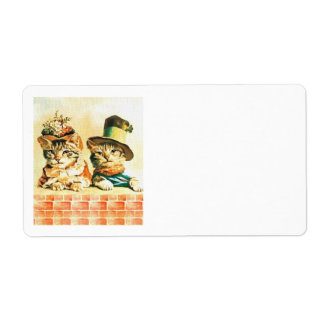Vintage Victorian Cats Shipping Labels