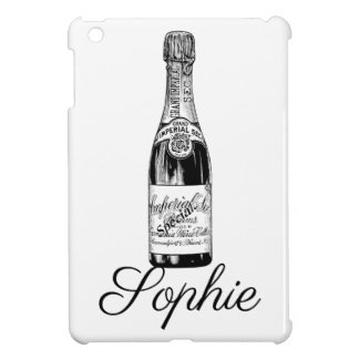 Vintage/Victorian Champagne Bottle Personnalised iPad Mini Cover