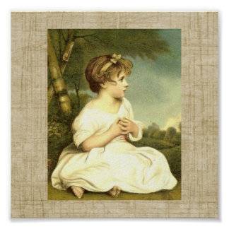 Vintage Victorian Child Sunrise Art Print