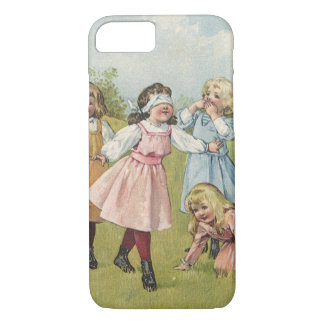 Vintage Victorian Children Playing Blindfold Games iPhone 7 Case