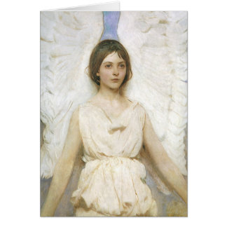 Vintage Victorian Christmas Angel by Abbott Thayer Card