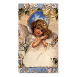 Vintage Victorian Christmas Angel with Bells Ivy Business Card Templates