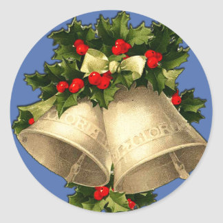 Vintage Victorian Christmas Bells Cards, Stickers