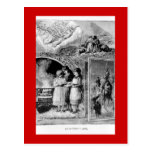 Vintage Victorian Christmas Biblical Scene Post Cards