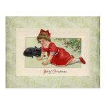 vintage victorian Christmas Postcard