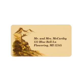Vintage Victorian Country Side Avery Address Label