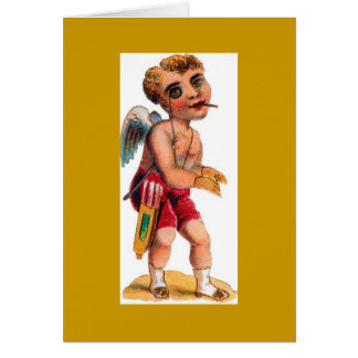 Vintage Victorian Creepy Angel Notes Note Card