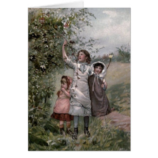 Vintage Victorian & Cute: Blackberry Picking Card
