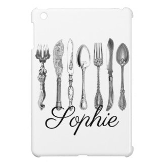Vintage/Victorian Cutlery Personnalised Case For The iPad Mini