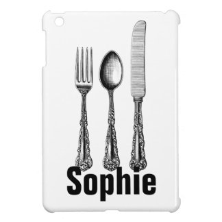 Vintage/Victorian Cutlery Personnalised Cover For The iPad Mini