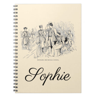Vintage/Victorian Cyclists Notebook