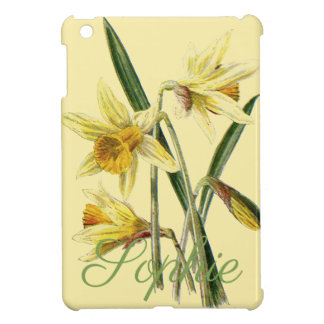 Vintage/Victorian Daffodils Personnalised iPad Mini Cover