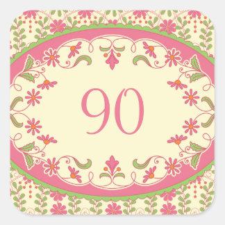 Vintage Victorian Daisy Birthday Stickers