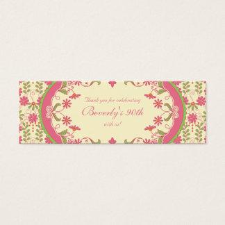 Vintage Victorian Daisy Floral Favour Tags Mini Business Card