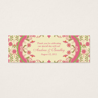 Vintage Victorian Daisy Floral Wedding Favour Tags Mini Business Card