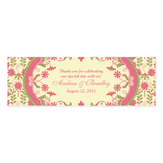 Vintage Victorian Daisy Floral Wedding Favour Tags Pack Of Skinny Business Cards