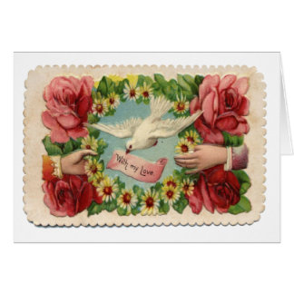 Vintage Victorian Dove All Occasions Card
