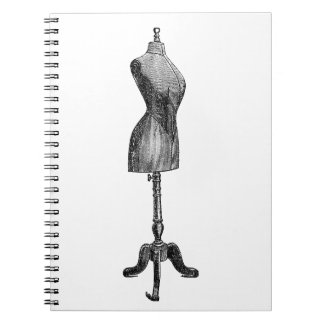 Vintage Victorian Dressform, Full Body Notebooks