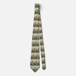 Vintage Victorian Easter Bunnies in an Egg Boat Tie