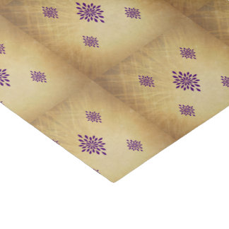 Vintage Victorian Era Elegant Gold and Purple Tissue Paper