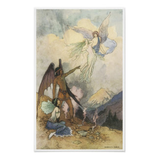 Vintage Victorian Era Fairy Painting Warwick Goble Poster