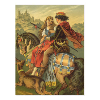 Vintage Victorian Fairy Tale, Brother and Sister Postcard