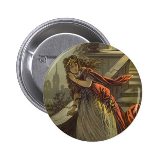 Vintage Victorian Fairy Tale, Cinderella 6 Cm Round Badge