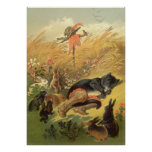 Vintage Victorian Fairy Tale, Puss in Boots Posters