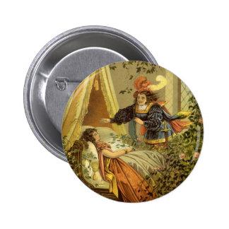 Vintage Victorian Fairy Tale, Sleeping Beauty 6 Cm Round Badge