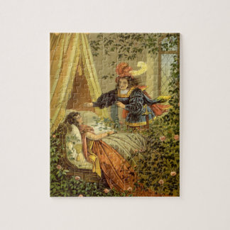 Vintage Victorian Fairy Tale, Sleeping Beauty Jigsaw Puzzle