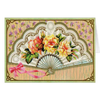 Vintage Victorian Fan All Occasions Card