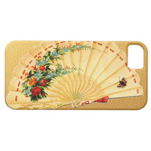 Vintage Victorian Fan Scrap Art Hot Flash Gag Gift iPhone 5 Case