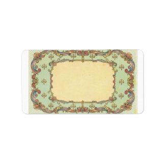 Vintage Victorian Filigree Address Label