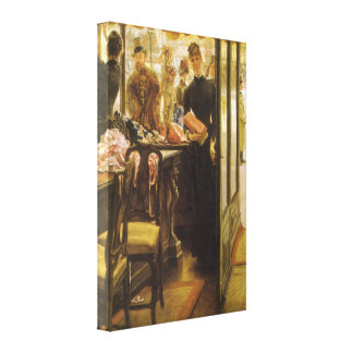 Vintage Victorian Fine Art, Shop Girl by Tissot Stretched Canvas Print
