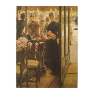 Vintage Victorian Fine Art, Shop Girl by Tissot Wood Canvases