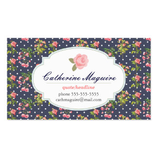 Vintage Victorian Floral Any Occupation Business Card