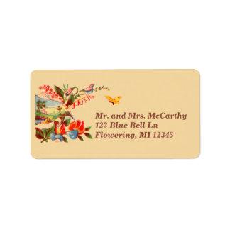 Vintage Victorian Floral Avery Address Label