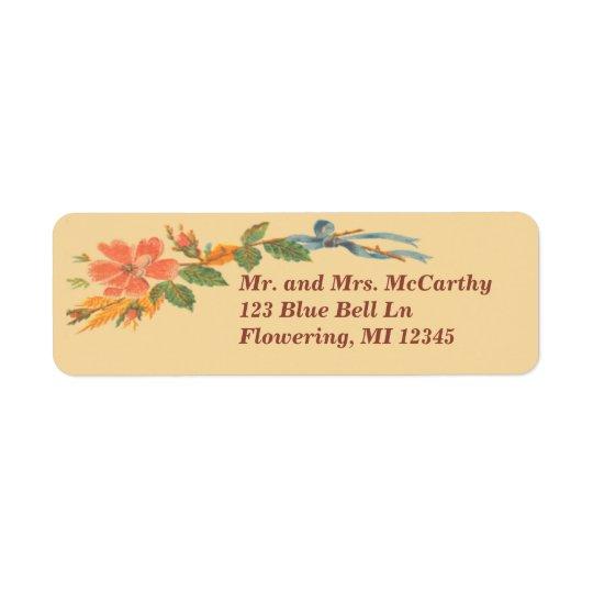 Vintage Victorian Floral Avery Return Address Label