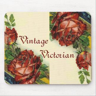 Vintage Victorian Floral Mousepad