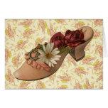 Vintage Victorian Floral Shoe Cards