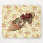 Vintage Victorian Floral Shoe Mousepad