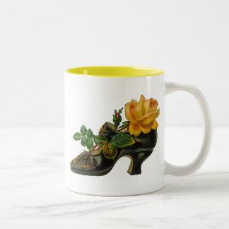 Vintage Victorian Floral Shoe Mugs