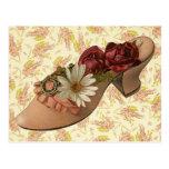 Vintage Victorian Floral Shoe Postcards