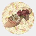 Vintage Victorian Floral Shoe Stickers