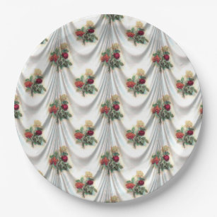 Vintage Victorian Flower Curtain Paper Plates  sc 1 st  Zazzle & Victorian Wedding Plates | Zazzle.com.au
