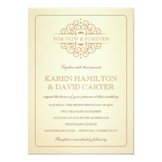 Vintage Victorian Formal Wedding Invitations