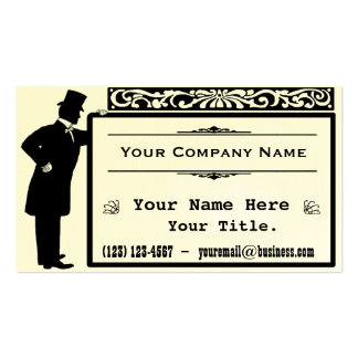 Vintage Victorian Gentleman Classic Double-Sided Standard Business Cards (Pack Of 100)