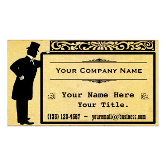 Vintage Victorian Gentleman Old Paper Classic Business Card
